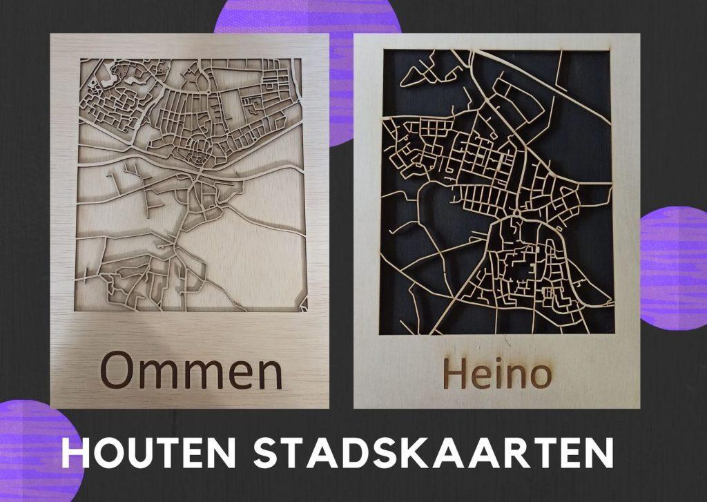 houten stadskaarten